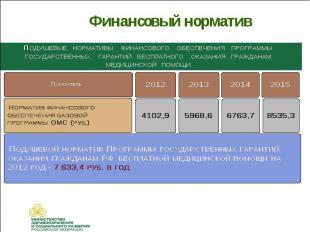Финансовый норматив