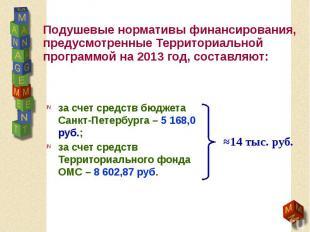 Подушевые нормативы финансирования, предусмотренные Территориальной программой н