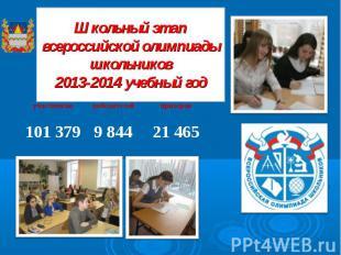 Школьный этап всероссийской олимпиады школьников 2013-2014 учебный год
