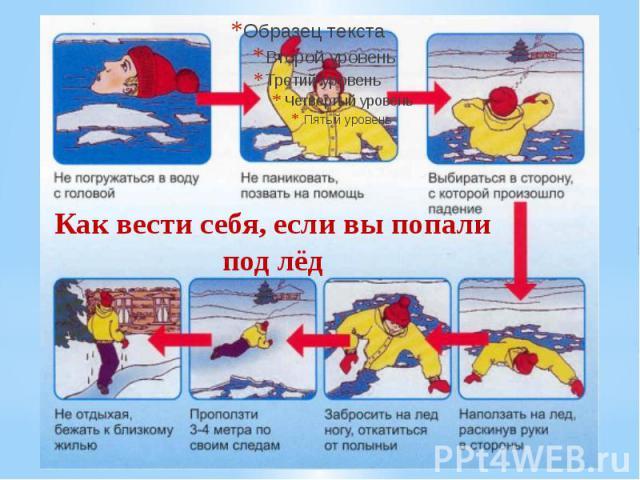 Как вести себя, если вы попали под лёд