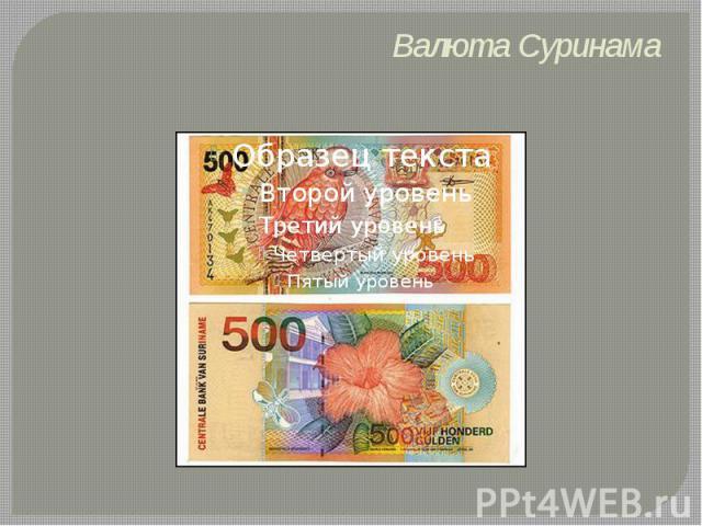 Валюта Суринама