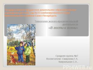 Государственное бюджетное дошкольное образовательное учреждение детский сад №72