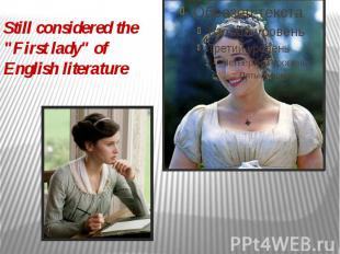 """Still considered the """"First lady"""" of English literature"""