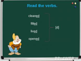 Read the verbs.