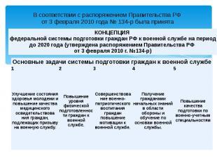 В соответствии с распоряжением Правительства РФ от 3 февраля 2010 года № 134-р б