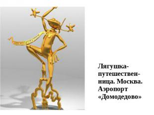 Лягушка-путешествен-ница. Москва. Аэропорт «Домодедово» Лягушка-путешествен-ница