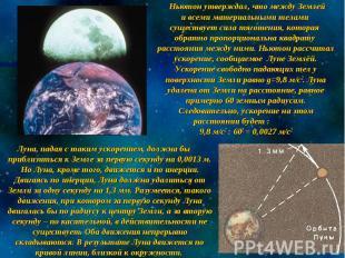 Ньютон утверждал, что между Землей и всеми материальными телами существует сила