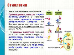 Полиэтиологичное заболевание; Полиэтиологичное заболевание; Провоцирующие фактор