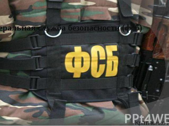 Федеральная служба безопасности (фсб) Кравченко Лана, 1Б2