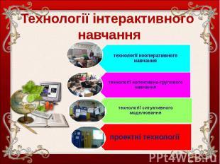 Технології інтерактивного навчання