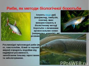Риби, як методи біологічної боротьби