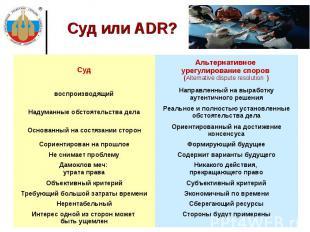Суд или ADR?