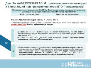 Решение Арбитражного суда г. Москвы от 13 июня 2013 г.утверждена редакция статей