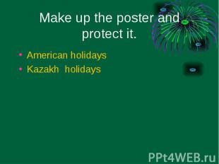 American holidays American holidays Kazakh holidays