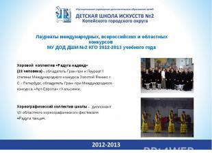 Лауреаты международных, всероссийских и областных конкурсов МУ ДОД ДШИ №2 КГО 20