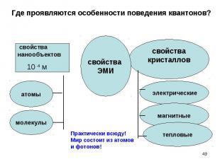 свойства свойства нанообъектов 10 - 9 м