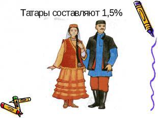 Татары составляют43 %12 человекТатары составляют 1,5%