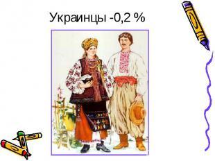 Украинцы -0,2 %