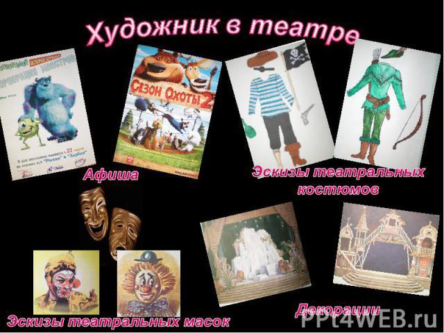 Художник в театреЭскизы театральных костюмовЭскизы театральных масок