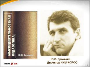 Ю.В. Громыко Директор НИИ ИСРОО
