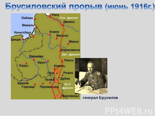 Брусиловский прорыв (июнь 1916г.)