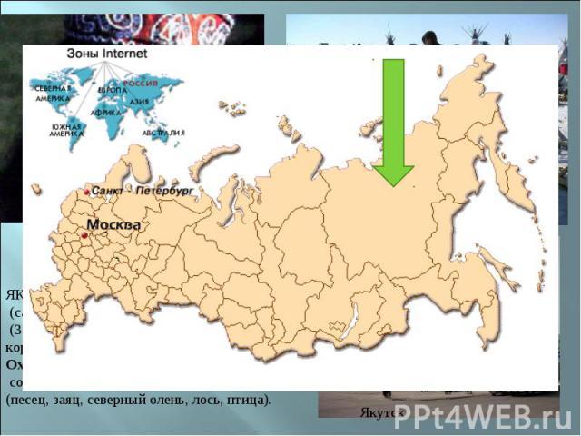 ЯКУТЫ (от эвенкийского якольцы), саха (самоназвание), народ в Российской Федерации (380,2 тыс. человек), коренное население Якутии Охота была особенно распространена на севере, составляя здесь основной источник пропитания (песец, заяц, северный олен…