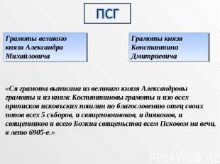 ПСГ Грамоты великого князя Александра МихайловичаГрамоты князя Константина Дмитр
