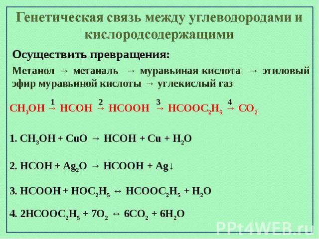 Как отличить метанол от метаналя муравьиной кислоты и уксусной кислоты