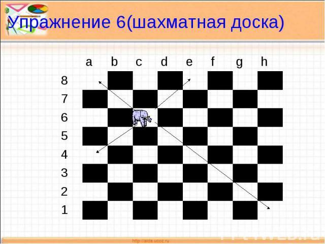 Упражнение 6(шахматная доска)