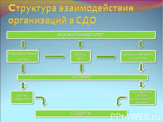 Cтруктура взаимодействия организаций в СДО
