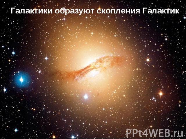 Галактики образуют скопления Галактик