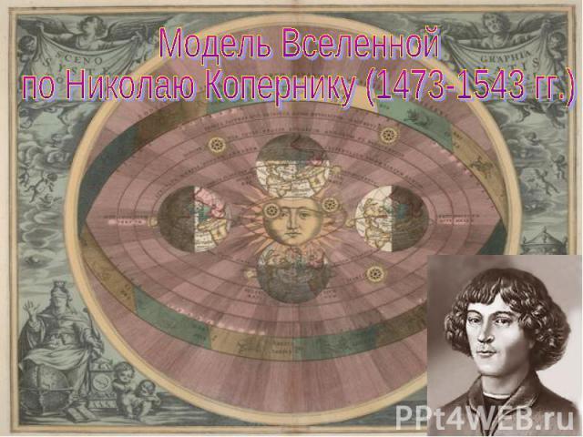 Модель Вселеннойпо Николаю Копернику (1473-1543 гг.)