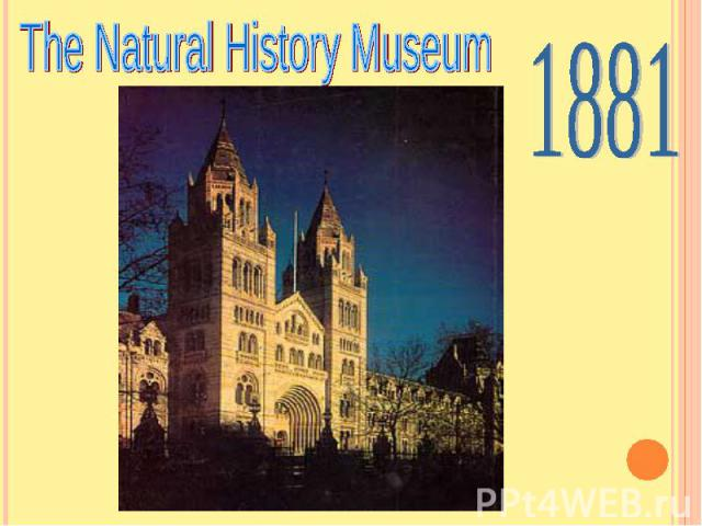 The Natural History Museum 1881