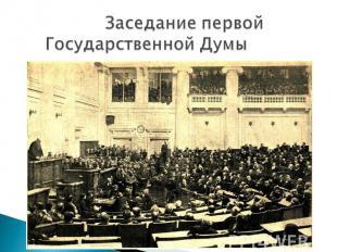 Заседание первой Государственной Думы