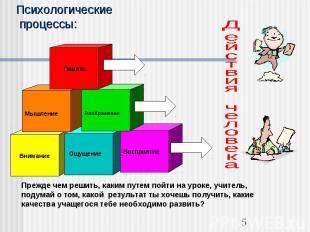 Психологические процессы:Действия человекаПрежде чем решить, каким путем пойти н