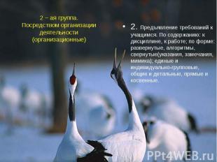 2 – ая группа.Посредством организации деятельности(организационные)2. Предъявлен
