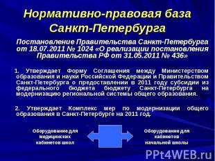 Нормативно-правовая база Санкт-Петербурга Постановление Правительства Санкт-Пете