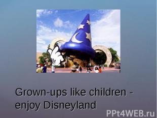 Grown-ups like children - enjoy Disneyland