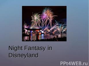 Night Fantasy in Disneyland
