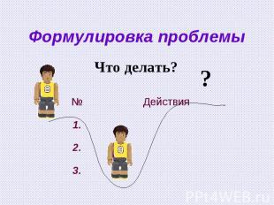 Формулировка проблемыЧто делать?
