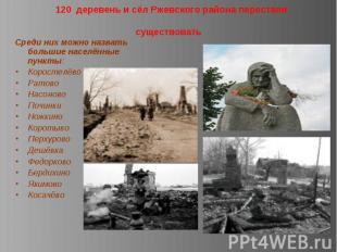 120 деревень и сёл Ржевского района перестали существовать Среди них можно назва