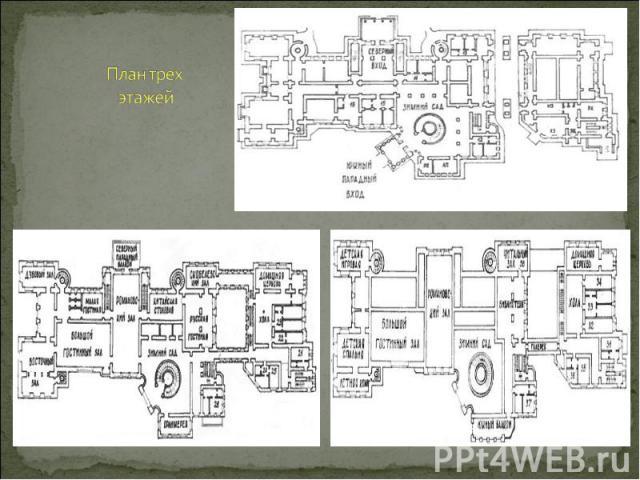 План трех этажей