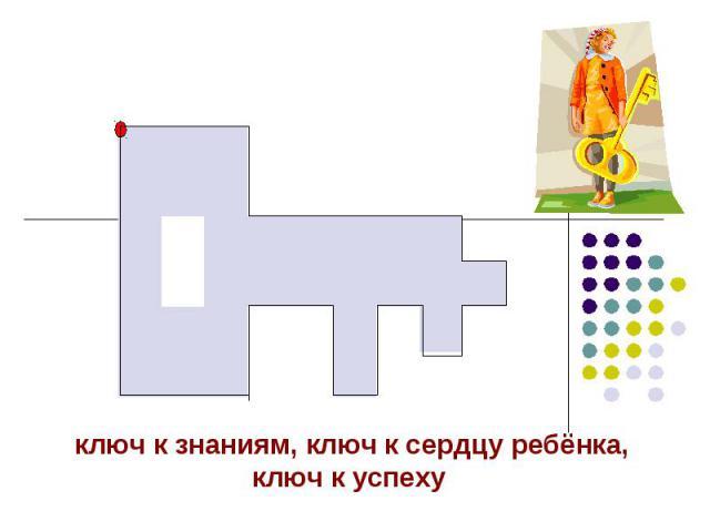 ключ к знаниям, ключ к сердцу ребёнка, ключ к успеху
