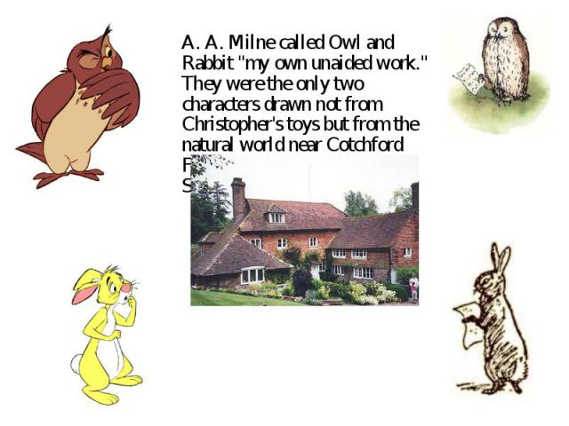 A. A. Milne called Owl and Rabbit