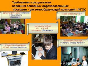 Требования к результатам освоения основных образовательных программ - системообр
