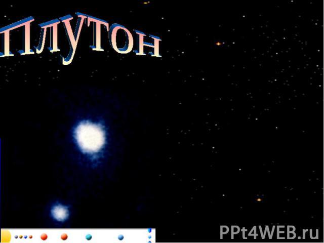 Плутон Плутон, названный в честь римского бога подземного мира, по размерам меньше Луны. Большую часть времени он является самой удаленной от Солнца планетой. Однако в течение 248 лет оборота вокруг Солнца он находится внутри орбиты Нептуна. В отлич…