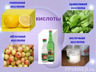 лимонная кислота яблочная кислота щавелевая кислота молочная кислота