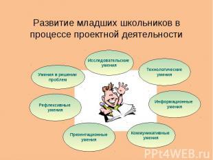 Развитие младших школьников в процессе проектной деятельности
