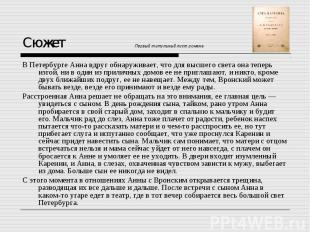 Сюжет Первый титульный лист романа В Петербурге Анна вдруг обнаруживает, что для