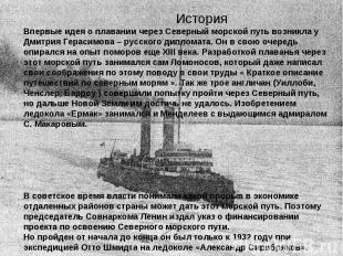 История Впервые идея о плавании через Северный морской путь возникла у Дмитрия Г